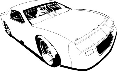Stock car clipart image library stock Stock car clipart outline - ClipartFest image library stock