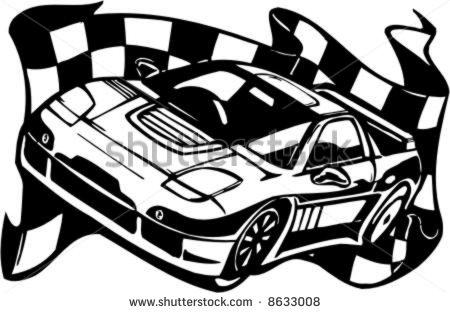 Stock car clipart png free Nascar Race Car Black Clipart - Clipart Kid png free