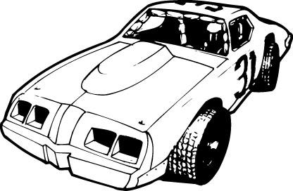 Stock car race car clipart svg stock Dirt track race car clipart - ClipartFox svg stock