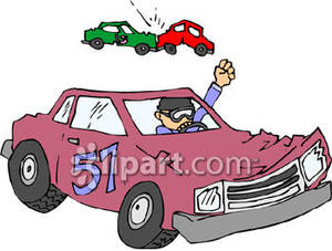 Stock car race car clipart clip black and white Driving In a Stock Car Race - Royalty Free Clipart Picture clip black and white