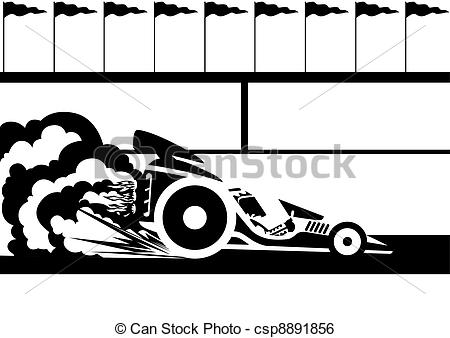 Stock car race car clipart clip freeuse library Clip Art Vector of Race car - A racing car at the stadium. Black ... clip freeuse library