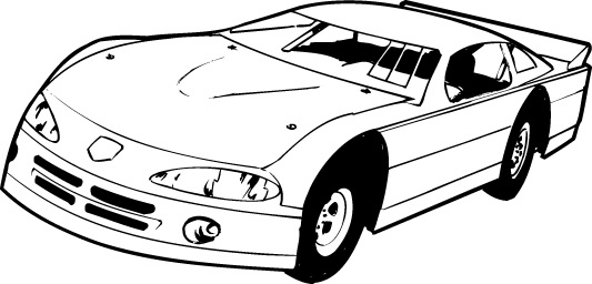 Stock car race car clipart graphic black and white Stock car race car clipart - ClipartFest graphic black and white