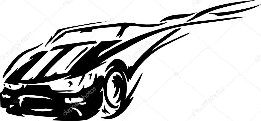Stock car racing clipart graphic transparent library Race car - vector illustration — Stock Vector © Digital-Clipart ... graphic transparent library