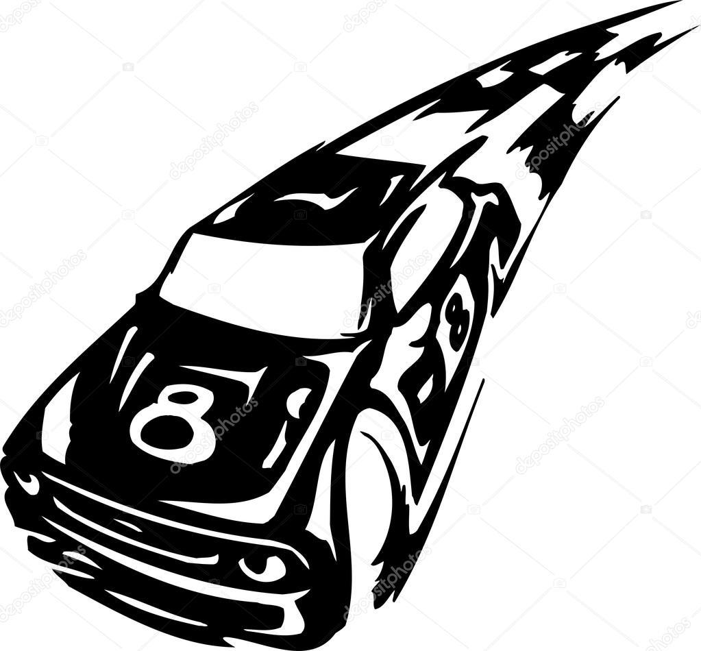 Stock car racing clipart svg transparent download Race car - vector illustration — Stock Vector © Digital-Clipart ... svg transparent download