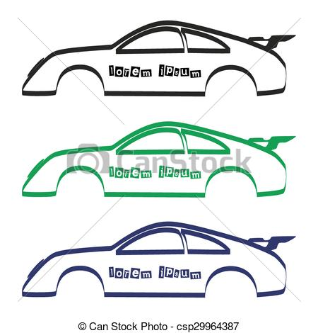 Stock clipart for commercial use jpg royalty free library Vector of car body silhouette for your commercial use eps10 ... jpg royalty free library