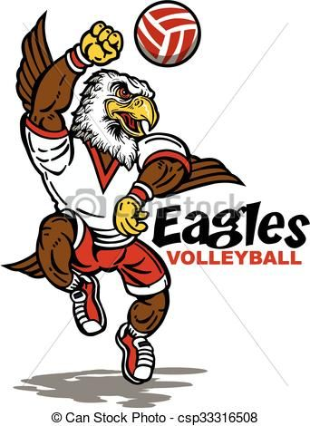 Stock clipart free image free download Vector - eagles volleyball - stock illustration, royalty free ... image free download