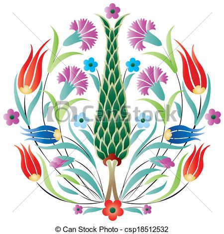 Stock clipart free royalty free stock Vector - oriental ottoman design degrade - stock illustration ... royalty free stock