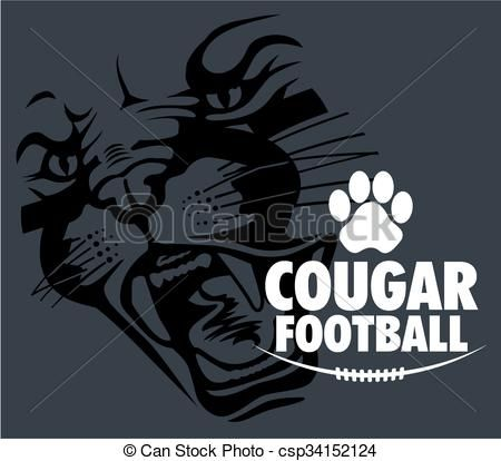Stock clipart free graphic library Vector - cougar football - stock illustration, royalty free ... graphic library