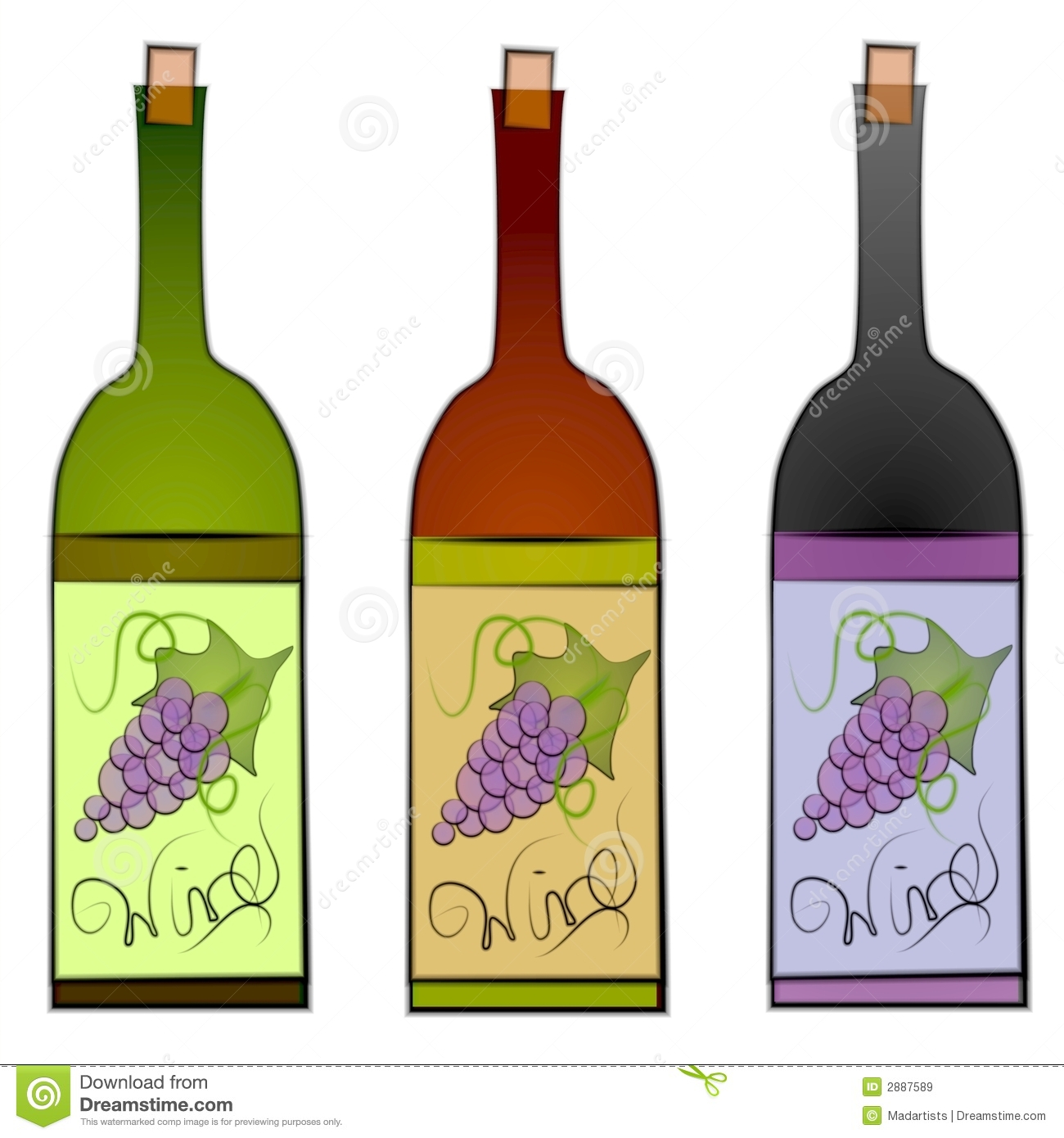 Stock clipart free download picture library library Wine Bottles Clip Art Royalty Free Stock Images - Image: 2887589 picture library library