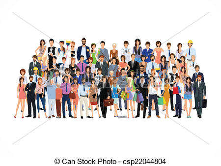 Stock clipart people svg free Vector Clipart of Large group of people - Large group crowd of ... svg free