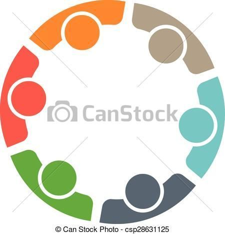 Stock clipart people image royalty free stock Vector - Team of six people. Concept of group of people meeting ... image royalty free stock