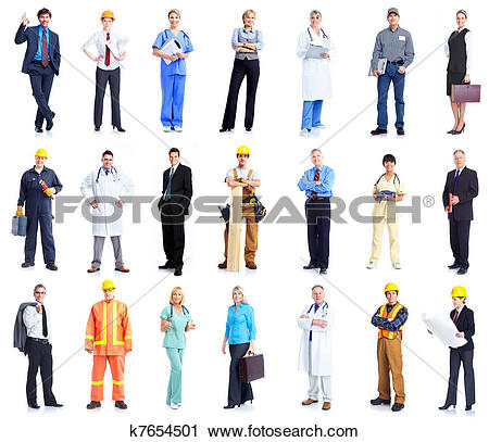 Stock clipart people banner stock Stock Photography of Set of workers business people. k7654501 ... banner stock
