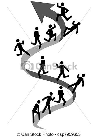 Stock clipart people jpg transparent stock Vectors of people climbing on up arrow - Business people going to ... jpg transparent stock