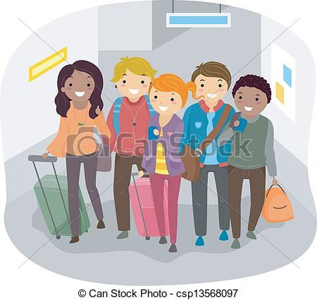 Stock clipart people clipart free library EPS Vectors of Group Travel - Illustration of Group of People ... clipart free library