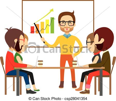Stock clipart people clipart free library Clipart Vector of Coworking People Collaboration Meeting - People ... clipart free library