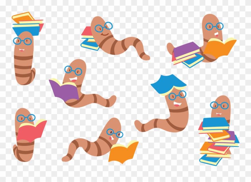 Stock clipart vector vector transparent stock Bookworm Cartoon Set Download Free Vector Art Stock Clipart ... vector transparent stock