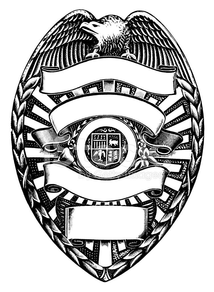 Stock clipart vector image freeuse stock Printable Police Badge Clipart Drawing Pictures Stock Vector ... image freeuse stock