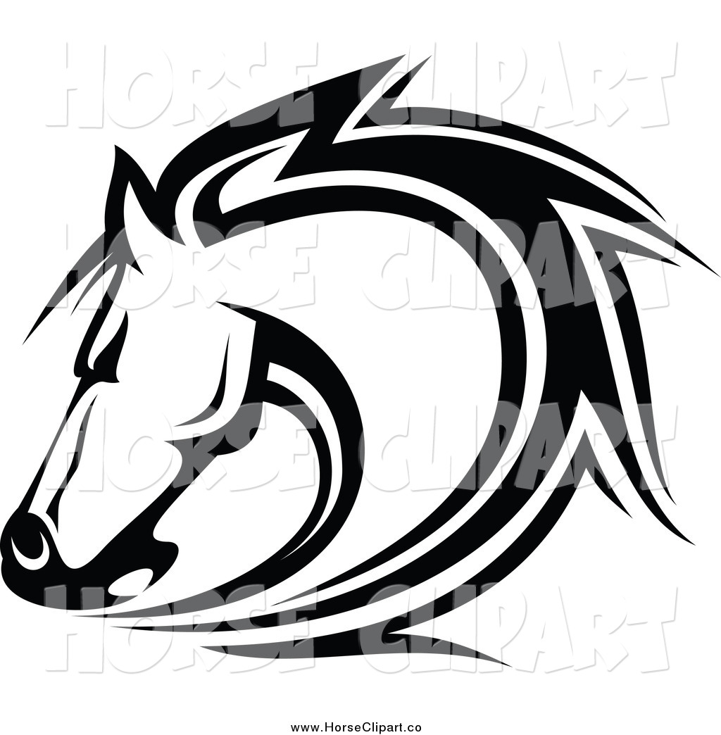 Stock horse head clipart banner freeuse Stock horse head clipart - ClipartFest banner freeuse
