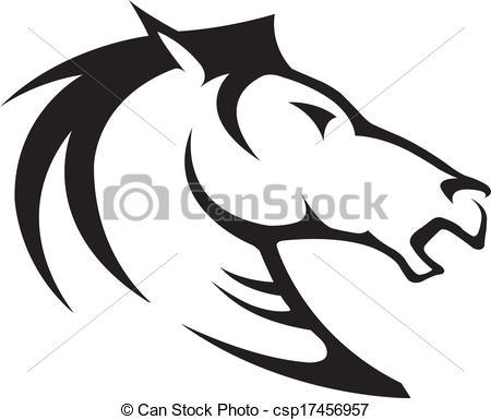 Stock horse head clipart clipart freeuse stock Clipart Vector of Horse head - Illustrated Horse Bust Profile ... clipart freeuse stock