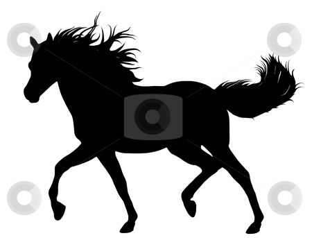 Stock horse head clipart image royalty free stock horse head stencil | Horse silhouette stock vector clipart ... image royalty free stock
