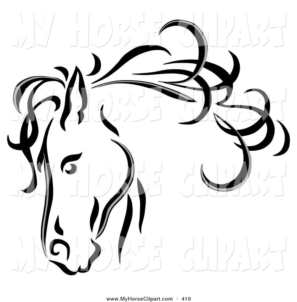 Stock horse head clipart png black and white Stock horse head clipart - ClipartFest png black and white