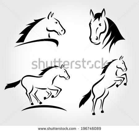 Stock horse head clipart picture Vector Illustration Horse Head Clipart Set Stock Vector 126369071 ... picture