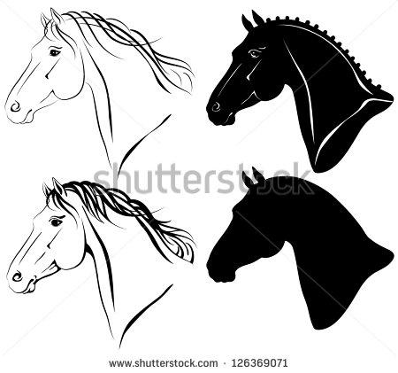 Stock horse head clipart clipart royalty free library Horse Head Stock Images, Royalty-Free Images & Vectors | Shutterstock clipart royalty free library