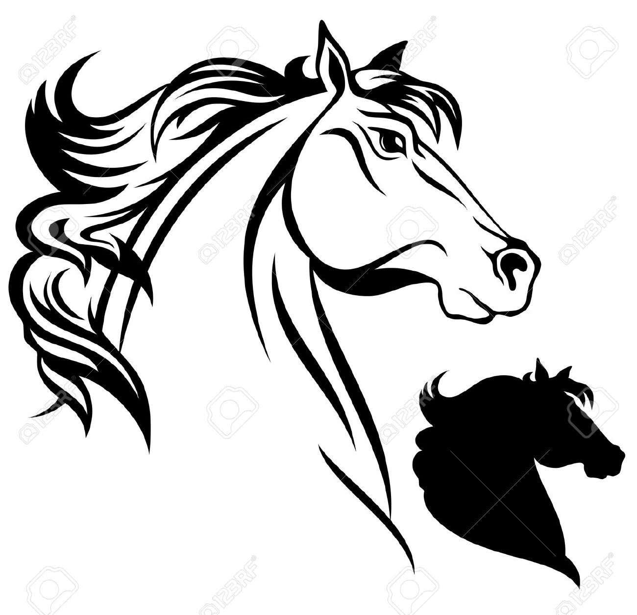 Stock horse head clipart clipart transparent 9,769 Horse Head Stock Vector Illustration And Royalty Free Horse ... clipart transparent