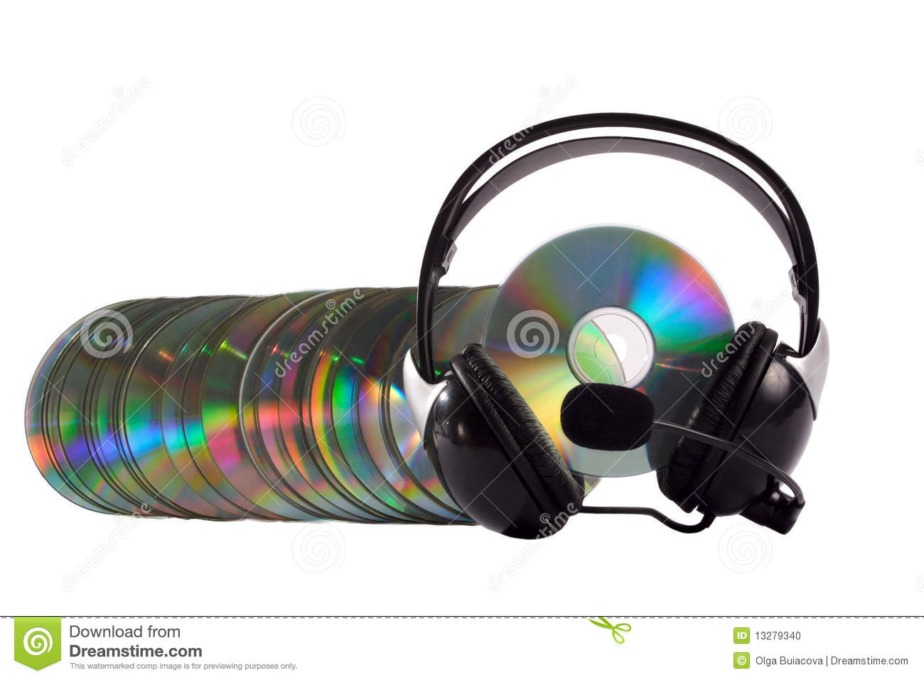 Stock images cd collection graphic black and white download Headphone And Cd Collection Stock Photo - Image: 13279340 graphic black and white download