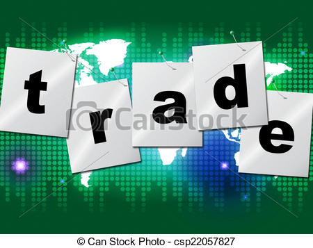 Stock in trade clipart banner download Clip Art of Trading Trade Means Commerce Buy And Exporting - Trade ... banner download