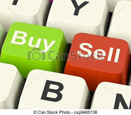 Stock in trade clipart banner royalty free Stock Illustration of Buy And Sell Keys Representing Business ... banner royalty free