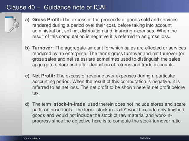 Stock in trade turnover png Recent changes in form 3CD - Tax Audit Report U/s 44AB of Income Tax … png
