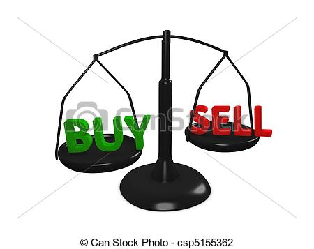 Stock market clip art image stock Clip Art of Buy Sell - Stock market Buy and Sell concept image ... image stock