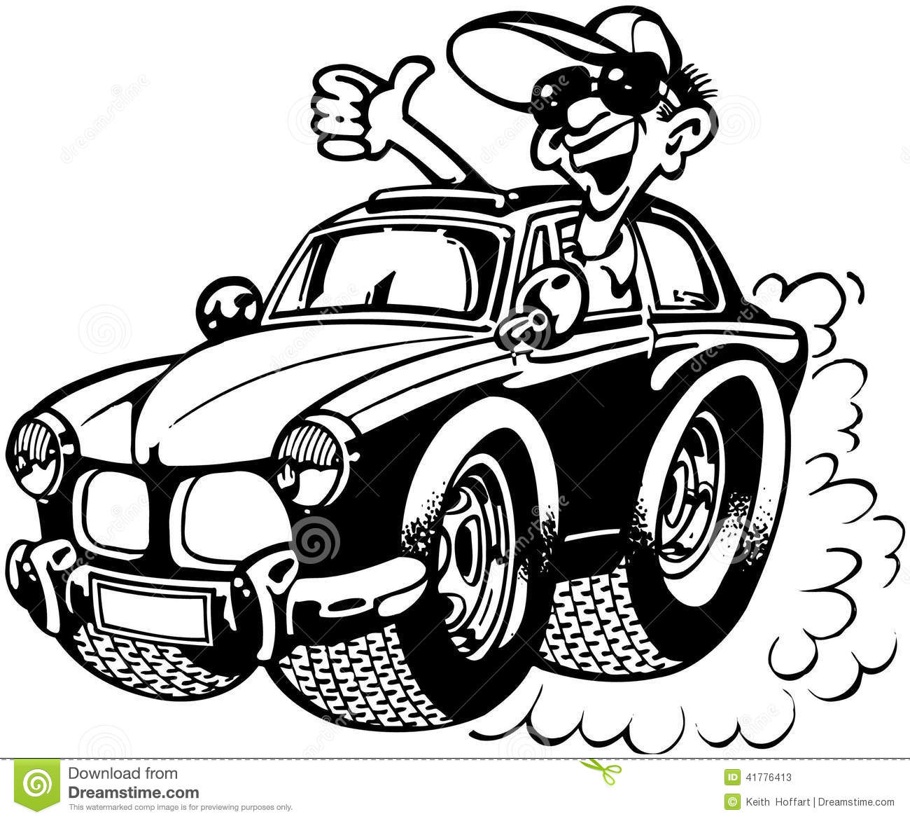Stock photos car clipart clipart royalty free download Driving Car Or Truck Cartoon Vector Clipart Stock Vector - Image ... clipart royalty free download