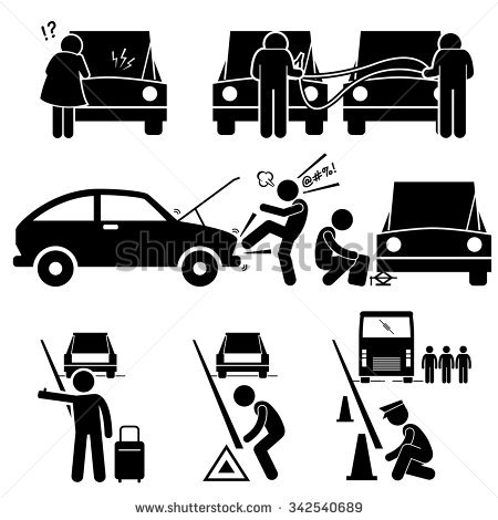 Stock photos car clipart clipart library download Car Breakdown Stock Photos, Royalty-Free Images & Vectors ... clipart library download