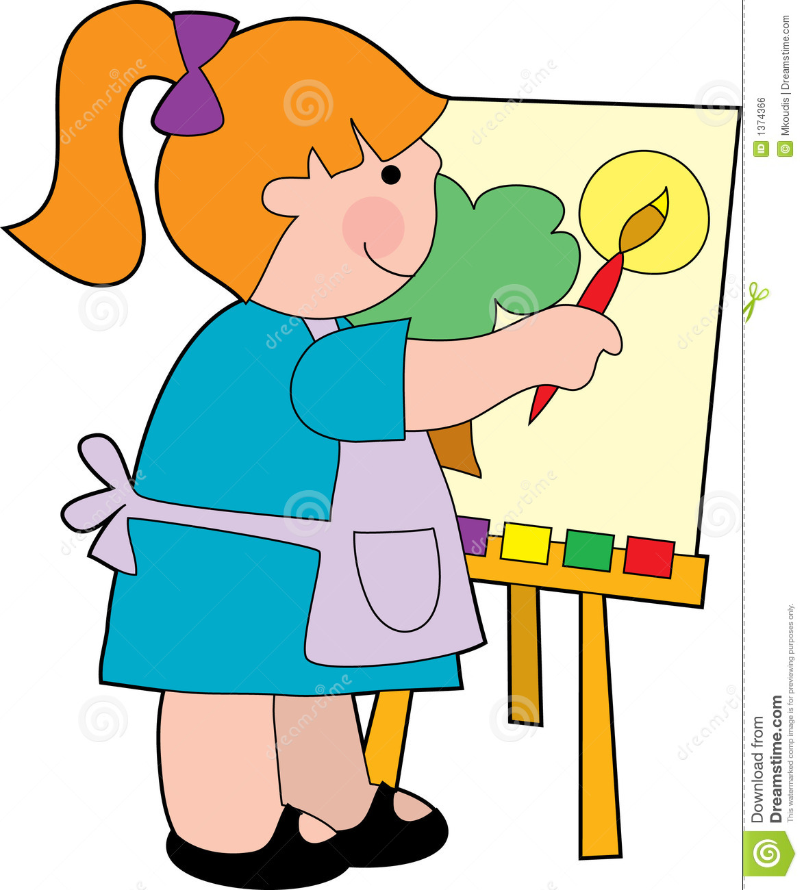 Stock photos clipart image royalty free download Kids Painting Clipart | Free download best Kids Painting ... image royalty free download