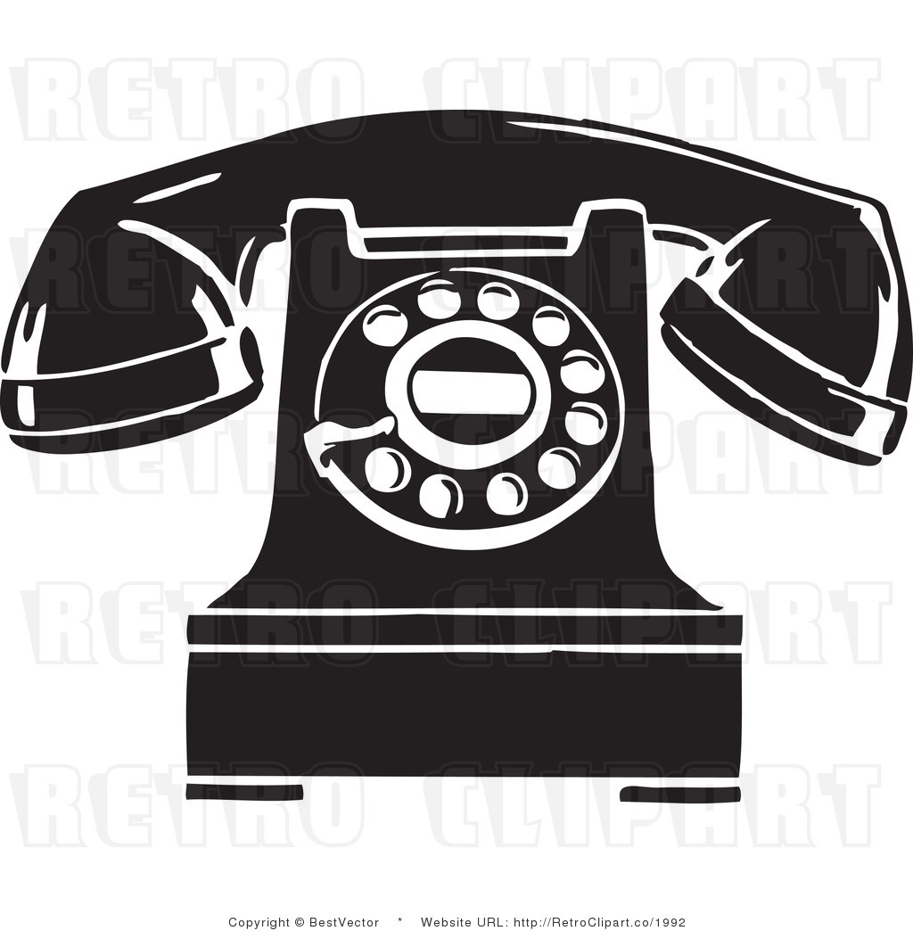 Retro spin phone clipart black and white picture royalty free stock Pics Photos Cartoon Phone Clip Art Free Vector - Free Clipart picture royalty free stock