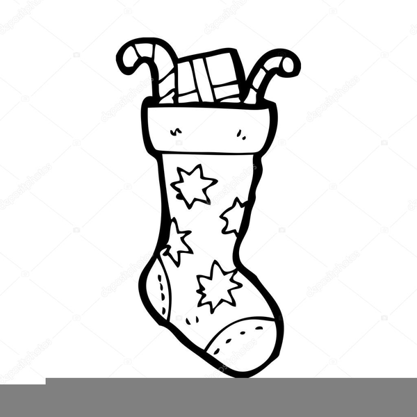 Stocking black and white clipart black and white Christmas Stocking Clipart Black And White | Free Images at ... black and white
