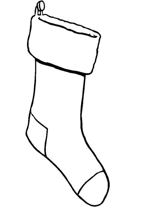Stocking black and white clipart banner free library Free Stocking Image, Download Free Clip Art, Free Clip Art ... banner free library