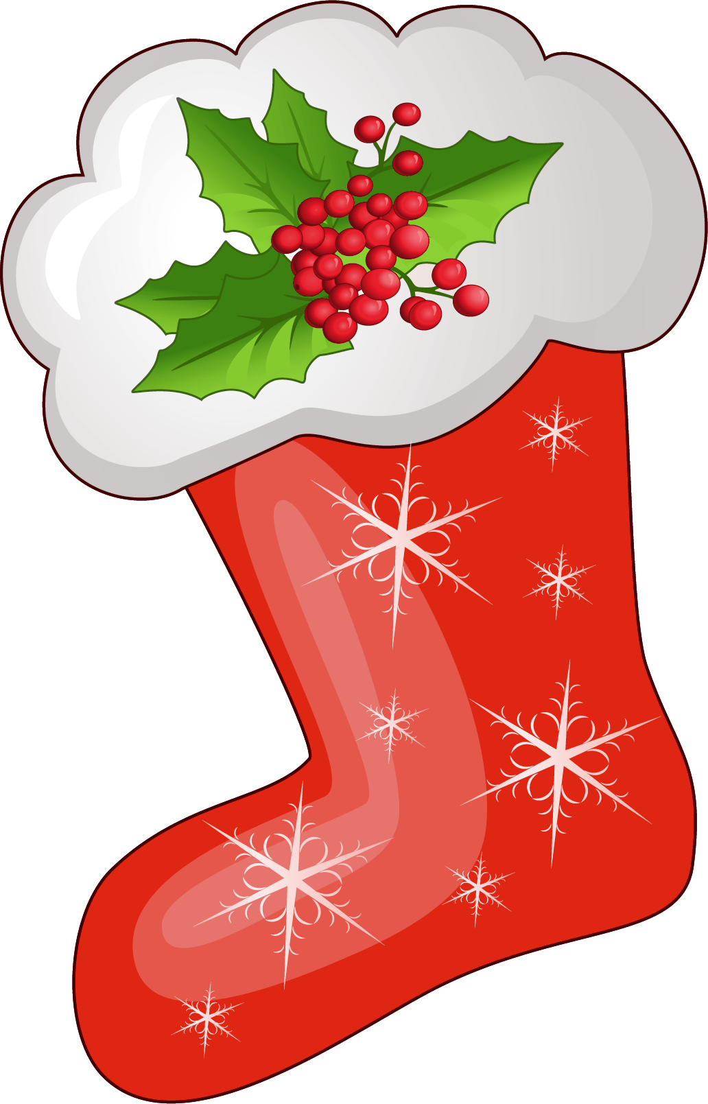 Stocking tree clipart clip freeuse stock Transparent Christmas Red Stoking PNG Clipart | Gallery ... clip freeuse stock