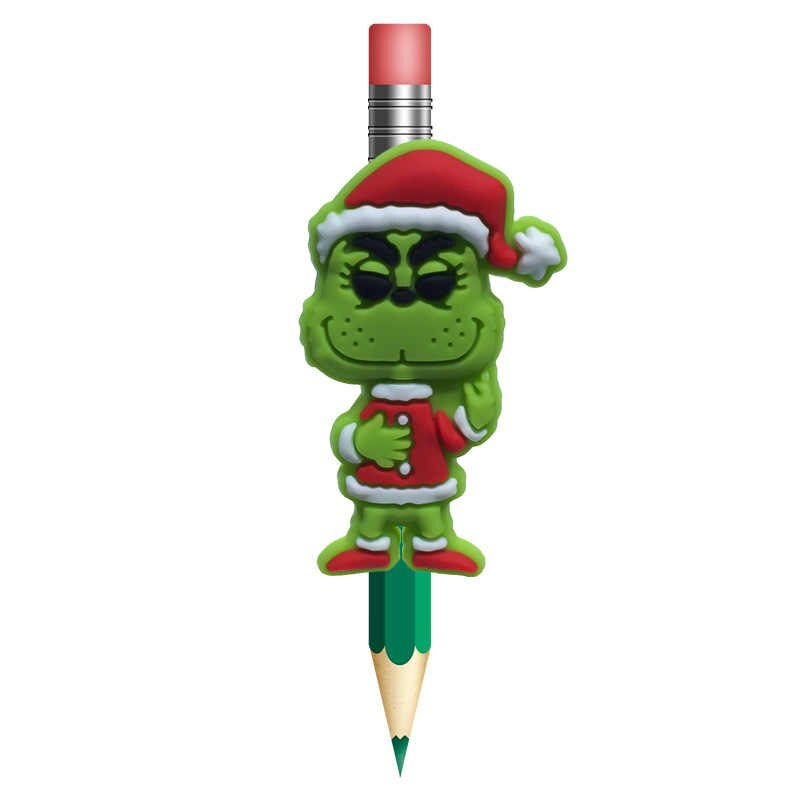 Stole your pencil clipart png 1Pcs How the Grinch Stole Christmas Pens Topper School Supplies Pencil  Holder Pencil Grip Kids Favor Gifts png