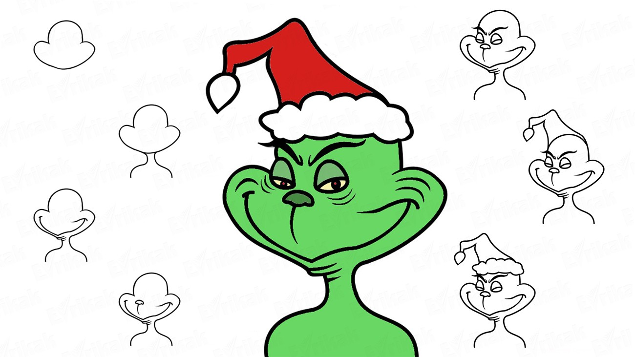 Stole your pencil clipart png free download How to draw Grinch who stole Christmas using a pencil png free download