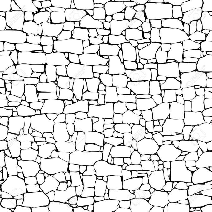 Stone wall clipart banner black and white download Stone wall clipart free 5 » Clipart Portal banner black and white download