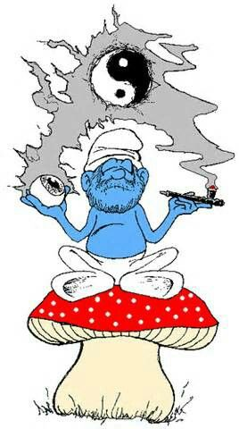 Stoner smurf clipart graphic library Papa Smurf getting mellow | Cannabis | Weed humor, Stoner ... graphic library