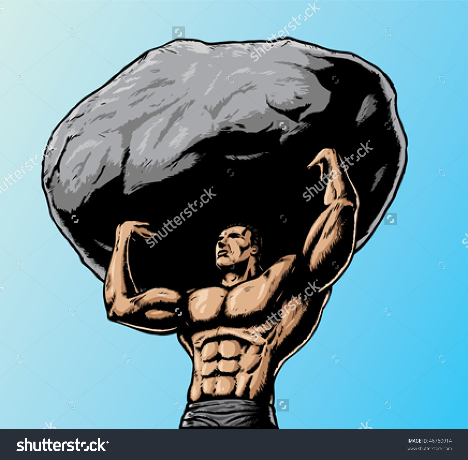 Stoneworks boulder joust graphic free stock Man holding boulder clipart - ClipartFest graphic free stock