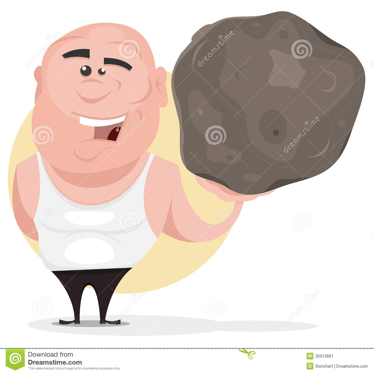Stoneworks boulder joust vector library stock Man holding boulder clipart - ClipartFest vector library stock