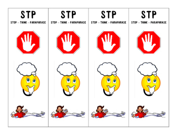 Stop and think clipart clipart library stock Stop - Think - Paraphrase Comprehension Strategy Poster and Bookmarks Set clipart library stock