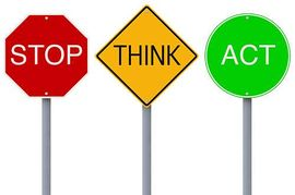 Stop and think clipart picture black and white Stop Think Act | Clipart Panda - Free Clipart Images picture black and white