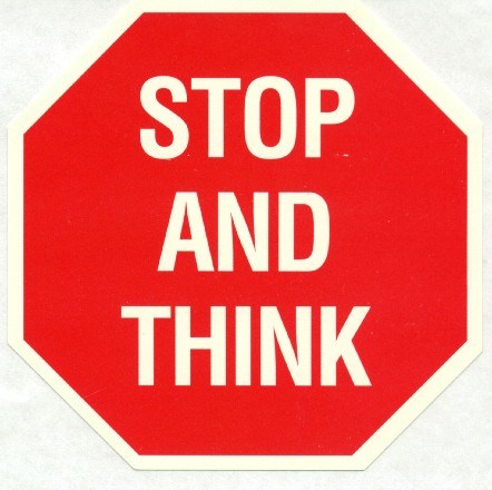 Stop and think clipart clipart black and white stock Stop and think clipart 7 » Clipart Portal clipart black and white stock