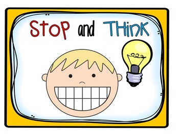 Stop and think clipart banner transparent Interactive Read Aloud Resources for Stop, Think, Talk, and Jot banner transparent
